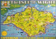 Isle of Wight pictorial map. Vintage BR Travel poster by Tom Smith. 1949